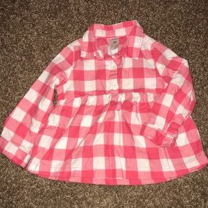 Large Gingham Peplum top by Carter's, 24 Months